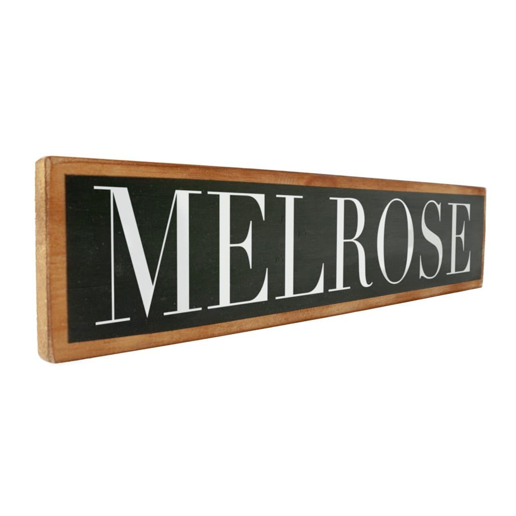 Melrose - Black & White - Wall Décor - Wood Sign