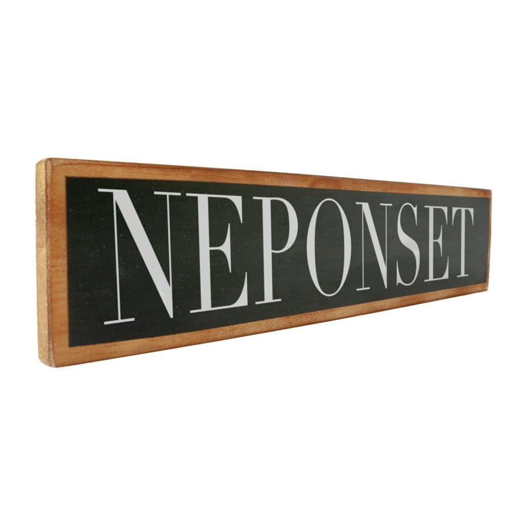 Neponset - Black & White - Wall Décor - Wood Sign