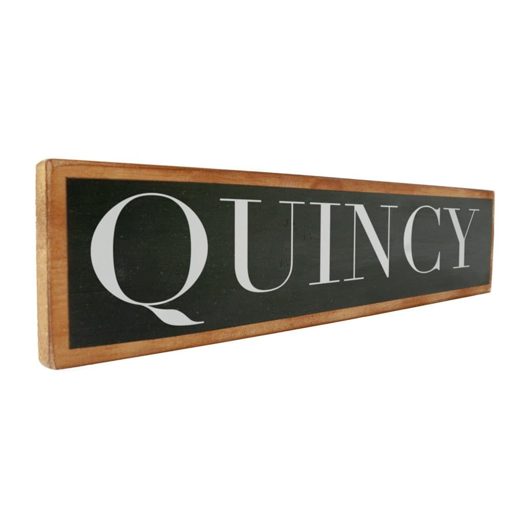 Quincy - Black & White - Wall Décor - Wood Sign