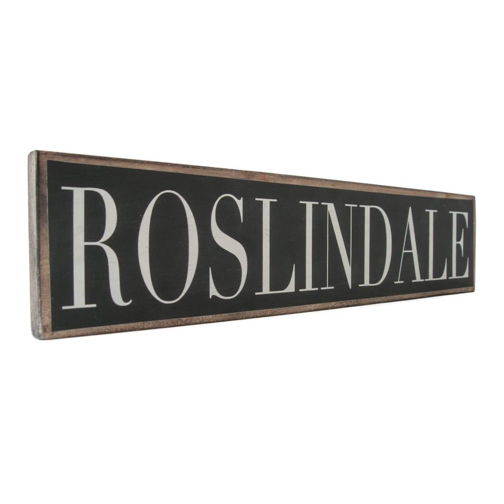 Roslindale - Black & White - Wall Décor - Wood Sign