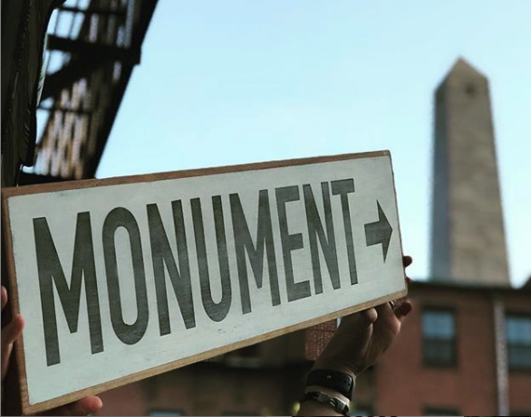 Monument Directional Sign