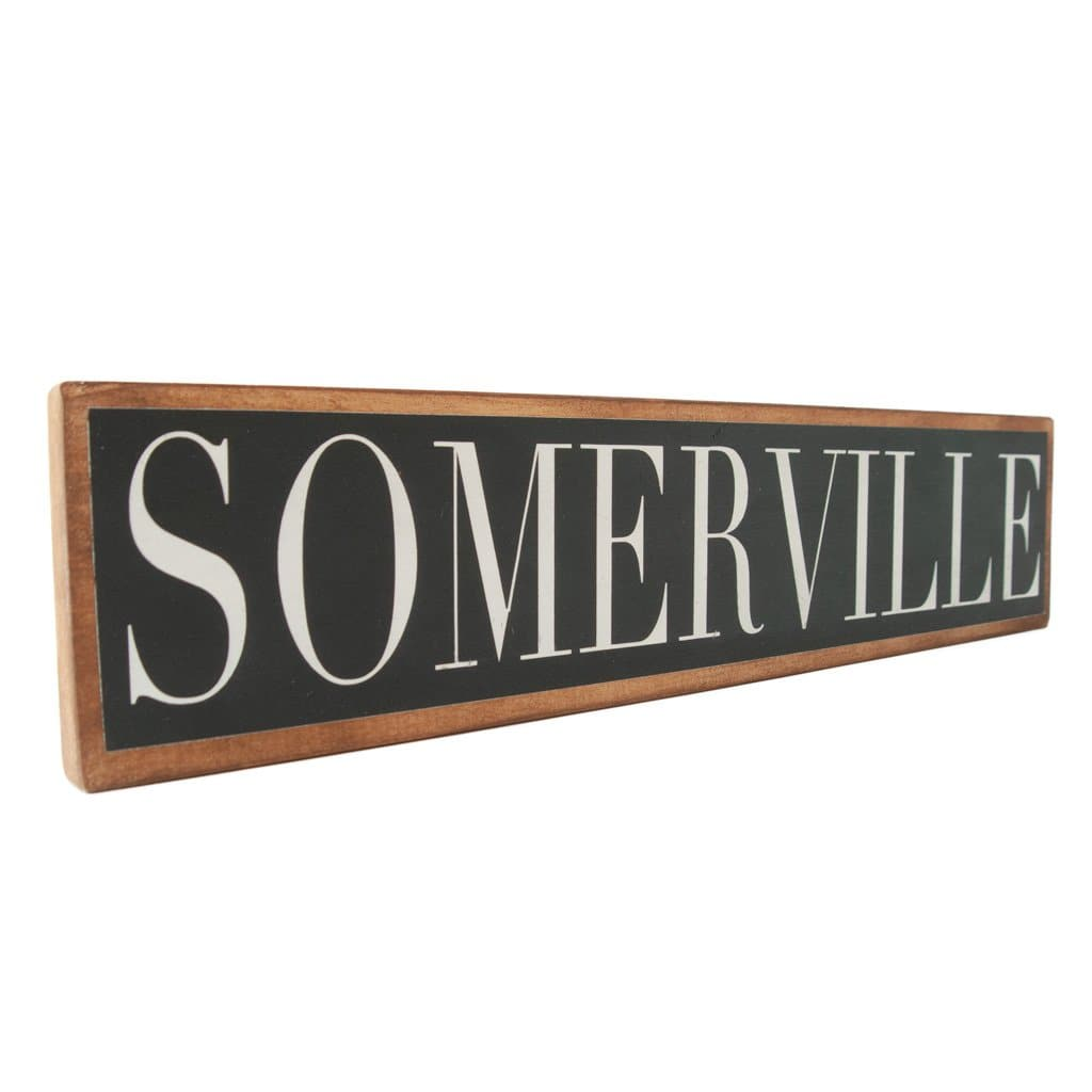 Somerville - Black & White - Wall Décor - Wood Sign