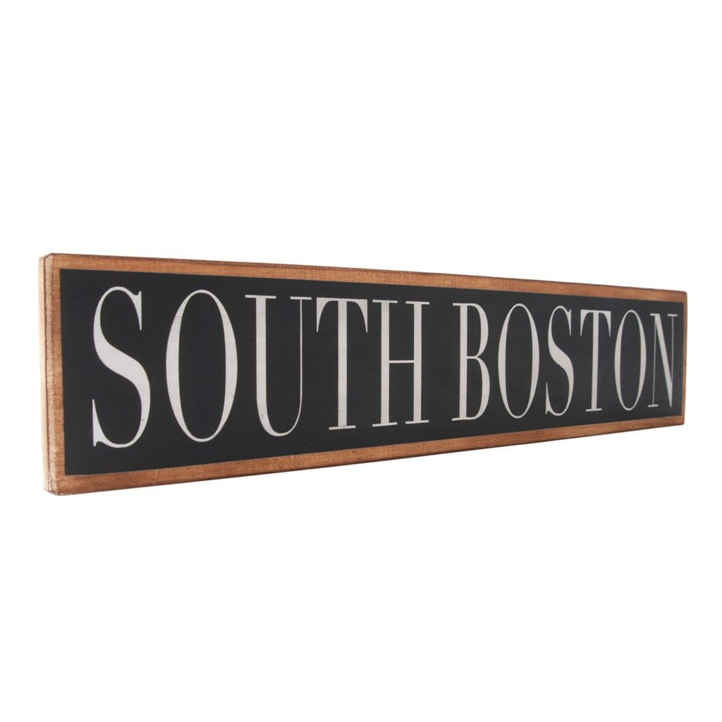South Boston - Black & White - Wall Décor - Wood Sign