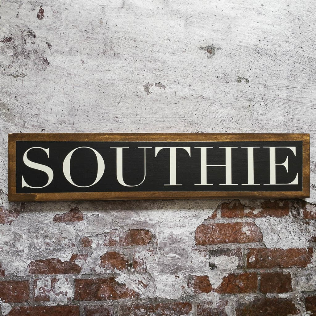 Southie - Black & White - Wall Décor - Wood Sign