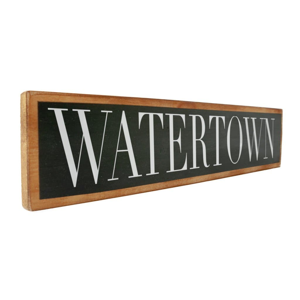 Watertown - Black & White - Wall Décor - Wood Sign