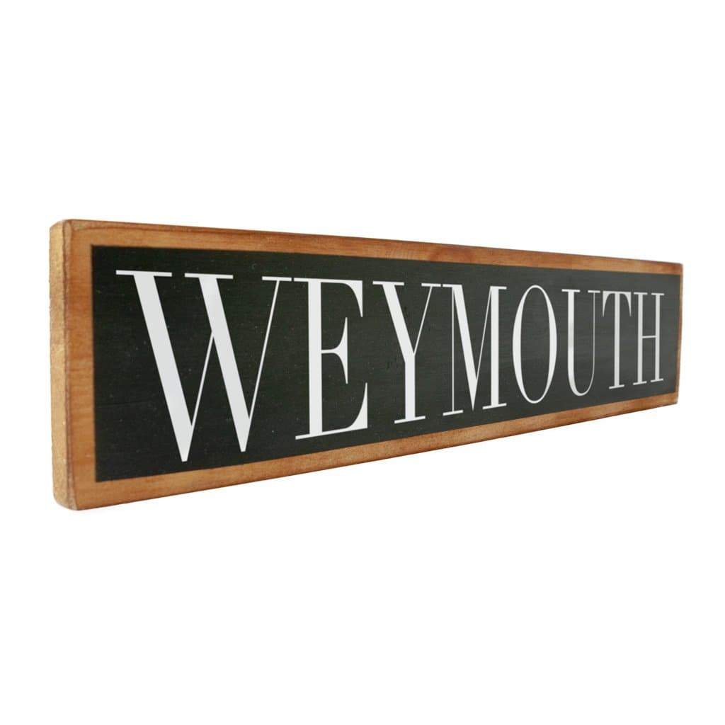 Weymouth - Black & White - Wall Décor - Wood Sign