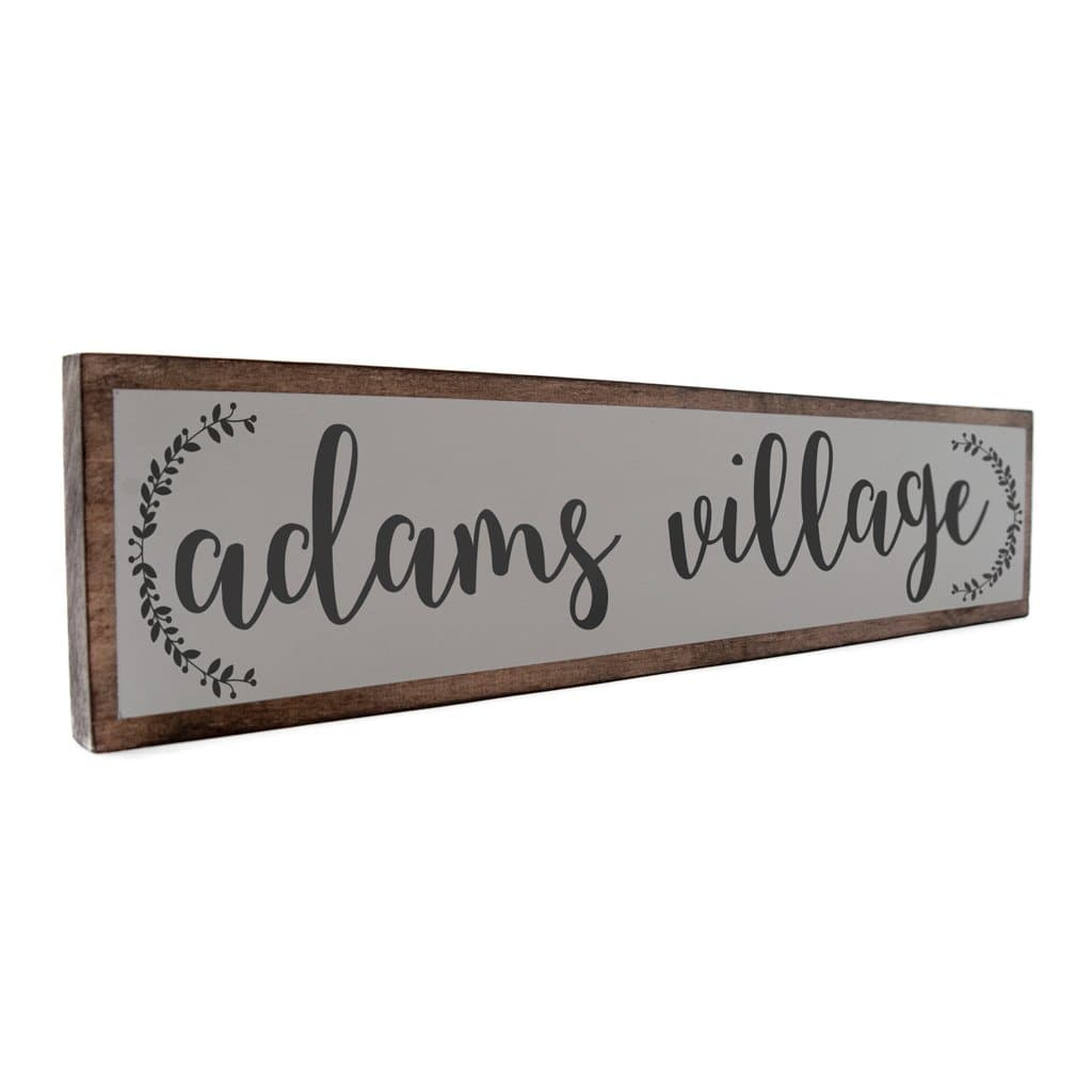 Adams Village - Farmhouse - Wall Décor - Wood Sign