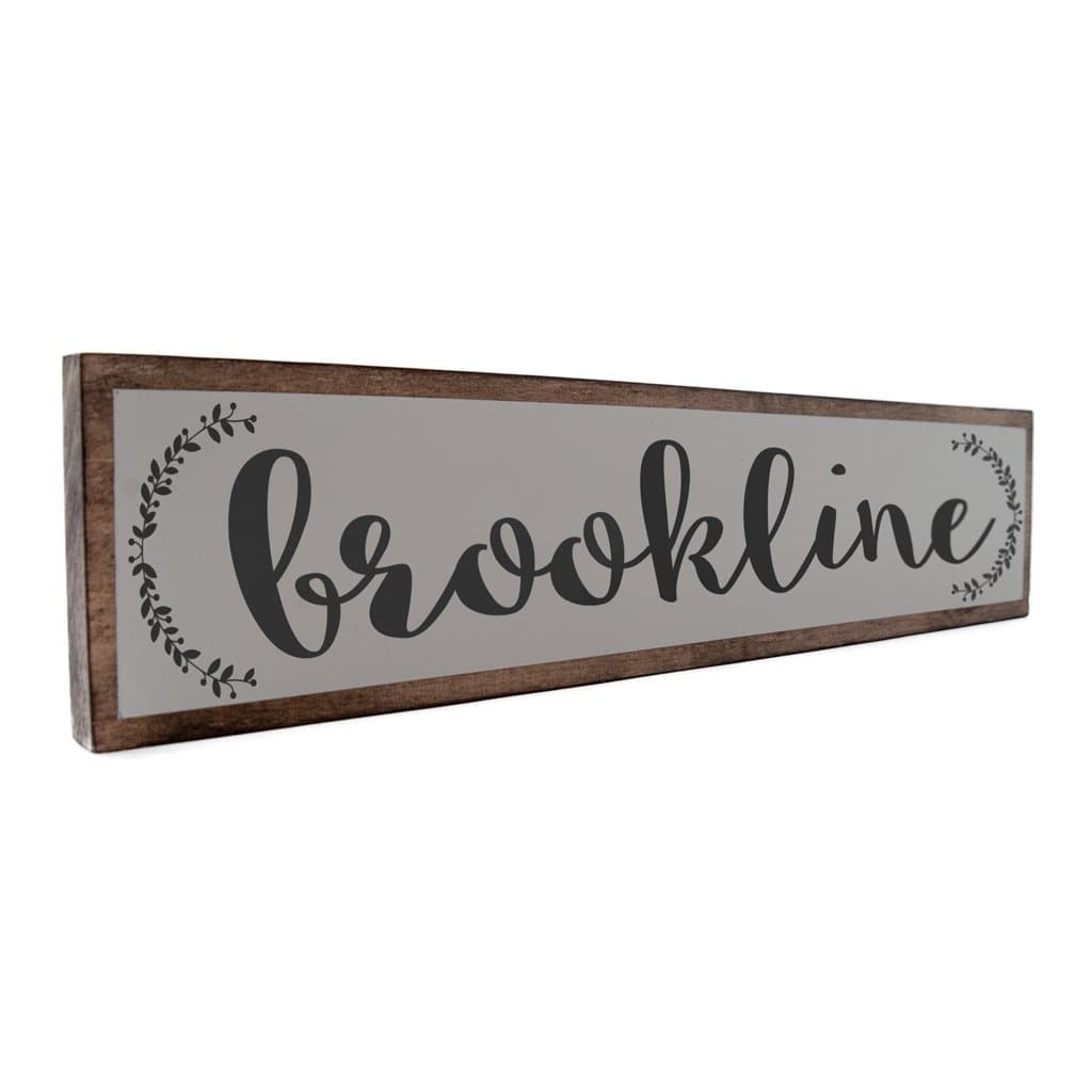 Brookline - Farmhouse - Wall Décor - Wood Sign