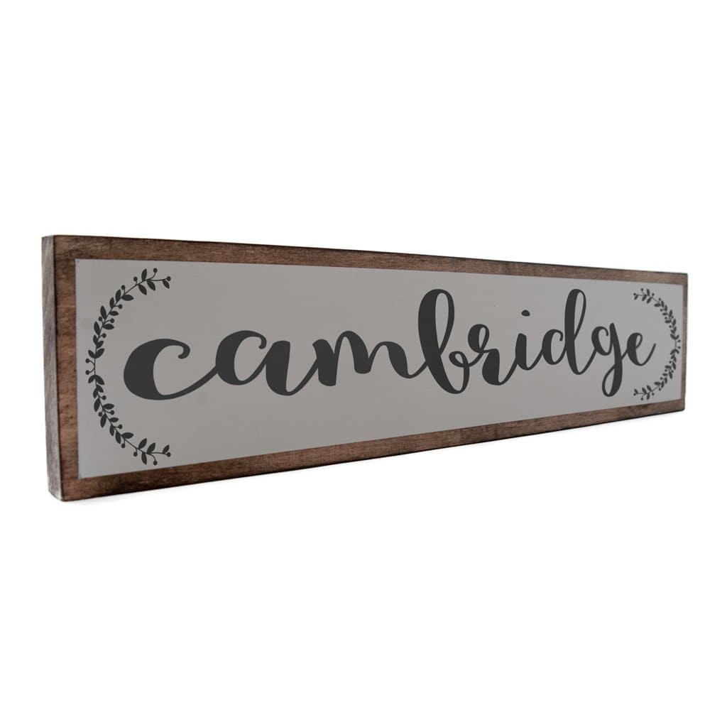 Cambridge - Farmhouse - Wall Décor - Wood Sign