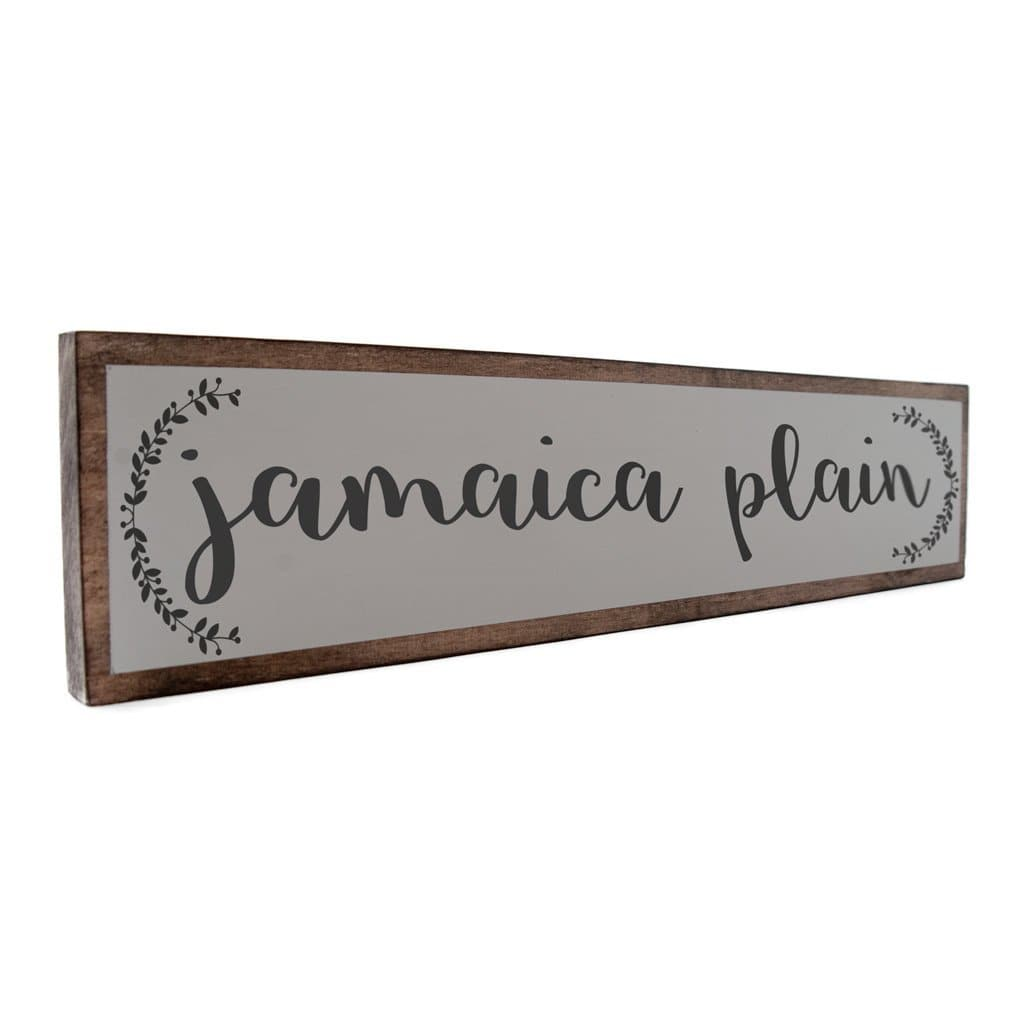 Jamaica Plain - Farmhouse - Wall Décor - Wood Sign