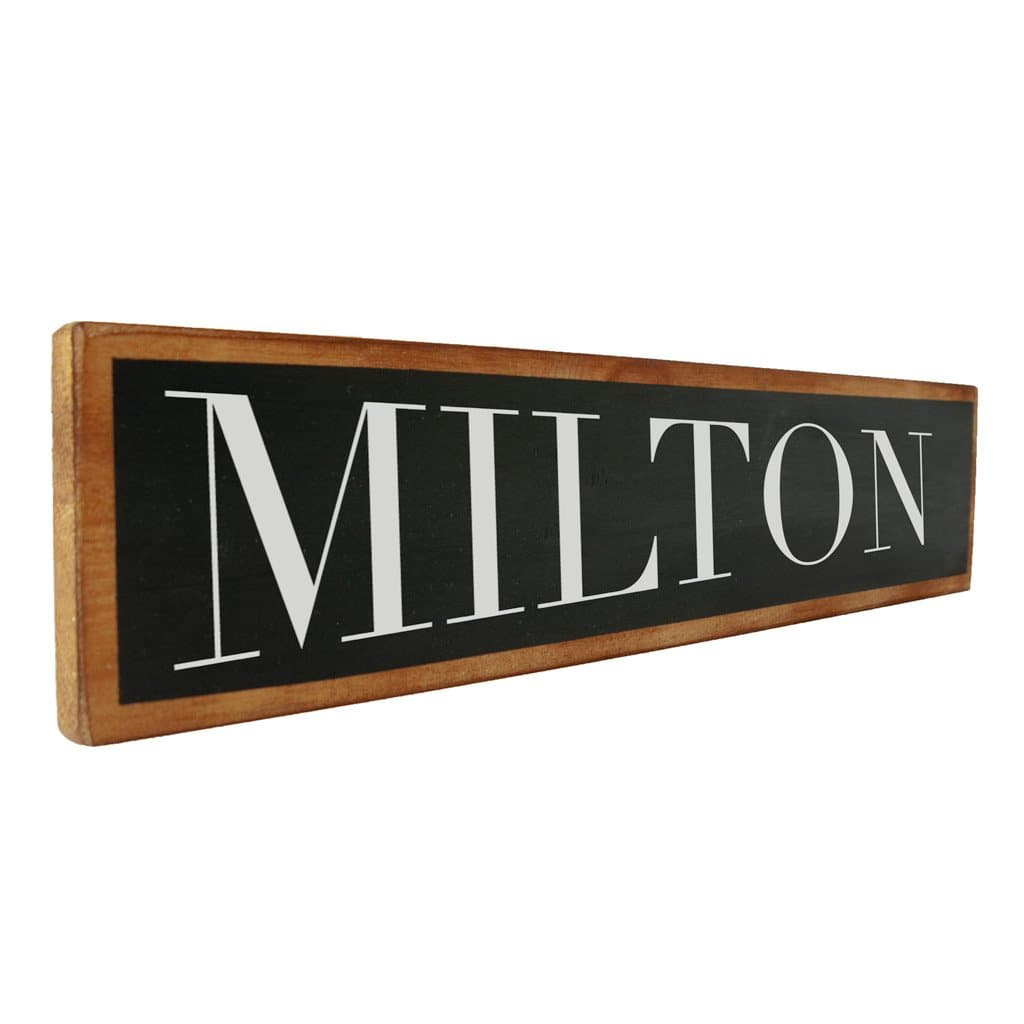 Milton - Black & White - Wall Décor - Wood Sign
