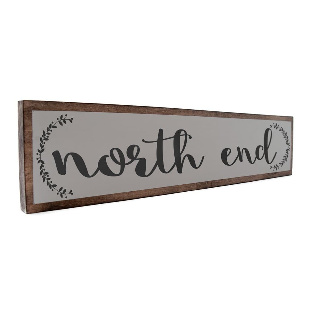 North End - Farmhouse - Wall Décor - Wood Sign