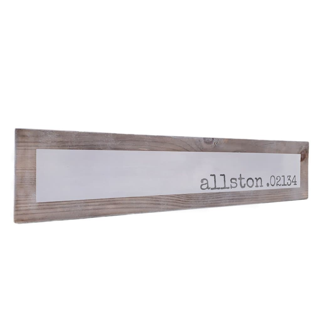 Allston 02134 - Simple - Wall Décor - Wood Sign