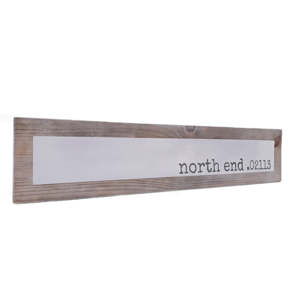 North End 02113 - Simple -  Wood Sign - Wall Décor