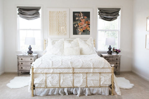 Mint Arrow blog Master bedroom reveal Jennifer Allevato floral Minted art print