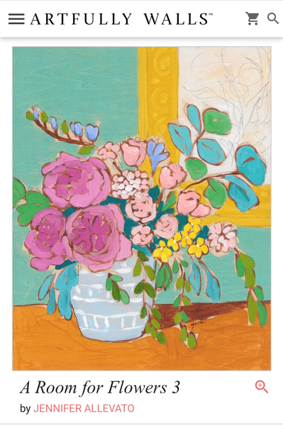 A Room for Flowers 3 art print by Jennifer Allevato for Artfully Walls
