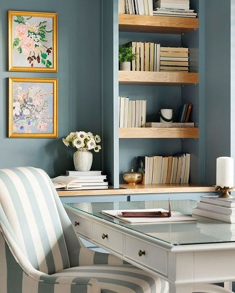 Jennifer Allevato Fine Art in office by Bria Hammel Interiors
