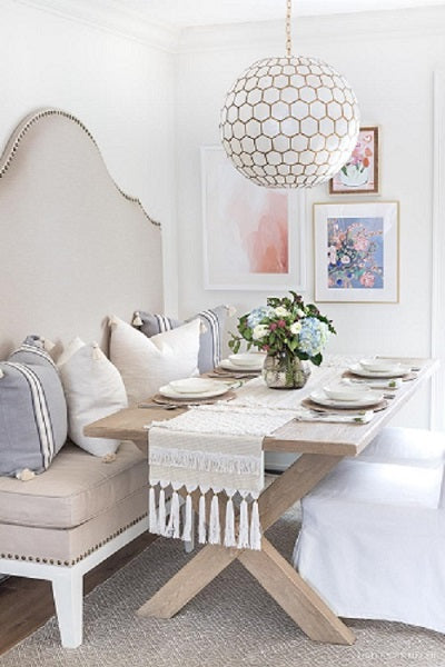 Jennifer Allevato Fine Art in Dining space by Driven by Decor