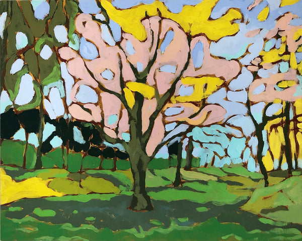 Fairlington Trees landscape painting by Jennifer Allevato Fine Art
