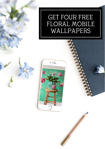 four free floral mobile wallpapers by jennifer allevato fine art