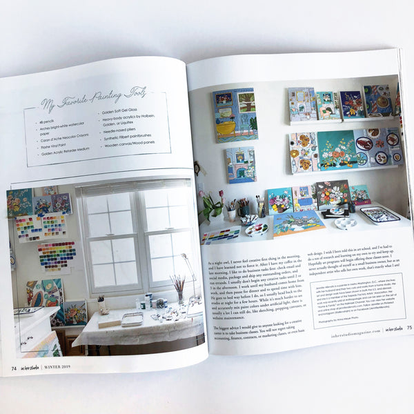In her studio magazine winter 2019 jennifer allevato artist feature