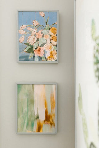 KB styled at home with Minted Jennifer Allevato art print