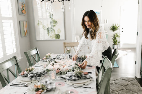 kb styled blog Valentines Day tablescape