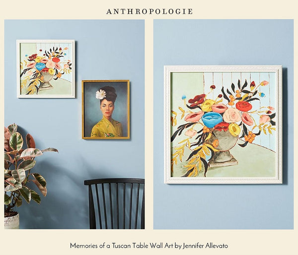 Memories of a Tuscan Table Wall art by Jennifer Allevato for Anthropologie