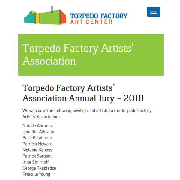Newly Juried Members of the TFAA 2018