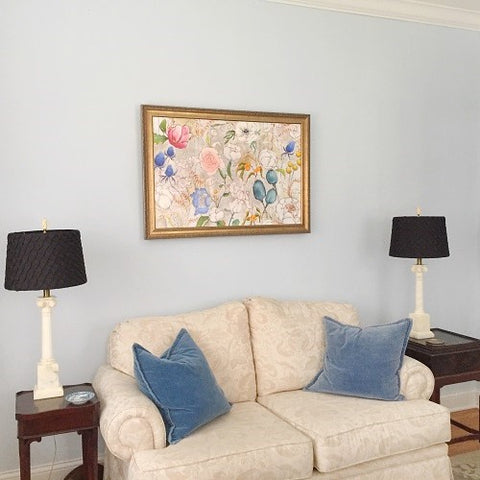 Jennifer Allevato fine art floral painting client install