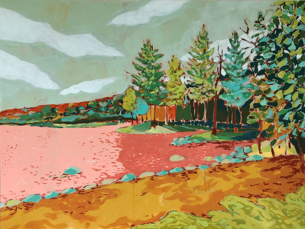 Pleasant Lake landscape painting by Jennifer Allevato fine art