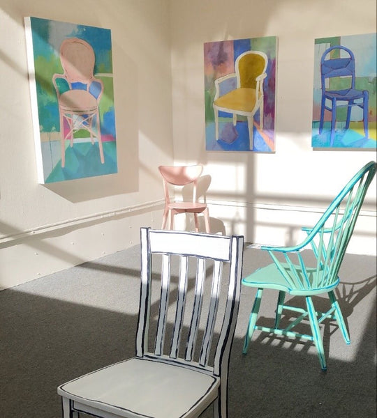 Seated by Jennifer Allevato at The Art League Gallery in Alexandria Virginia