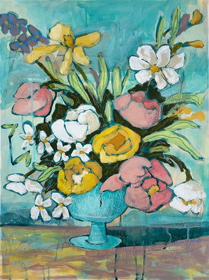 Unexpected Joys floral still life painting by Jennifer Allevato Fine Art