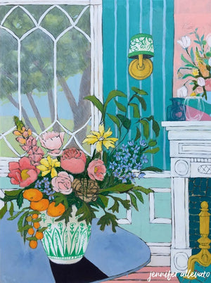 A Room for Flowers 18 painting by Jennifer Allevato