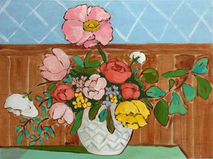 A Room for Flowers 6 floral still life painting by Jennifer Allevato