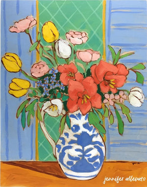 A Room for Flowers 8 floral still life painting by Jennifer Allevato