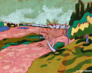 Amboise, Loire Valley landscape painting by Jennifer Allevato Fine Art