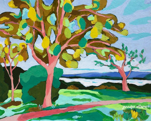 Banks of the Potomac landscape painting by Jennifer Allevato