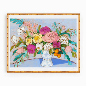 bouquet of hope floral print 16x20 by jennifer allevato