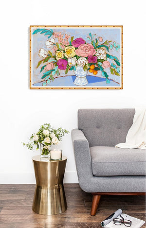 bouquet of hope floral print 24x36 by jennifer allevato