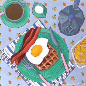 "Coffee and Eggs, 10""x10"""