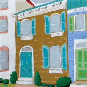 Dear, Home local house scape portrait painting by Jennifer Allevato art