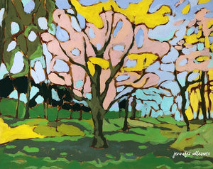 Fairlington Trees landscape painting by Jennifer Allevato