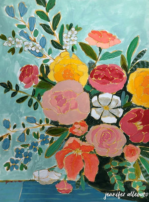 Jennifer Allevato art floral varation 10 painting still life on paper