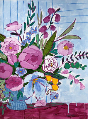 Jennifer Allevato art Floral Variation 8 painting still life on paper
