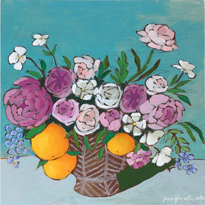 From a Table in Arlington floral painting by Jennifer Allevato