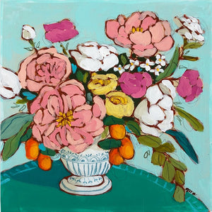 from a table in fairlington floral painting by jennifer allevato