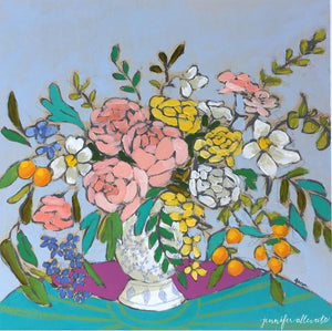 From a Table in Nashville floral painting by Jennifer Allevato