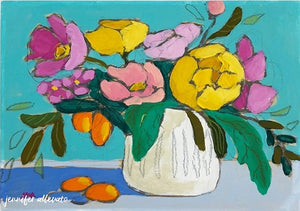 From a Table in New Haven floral still life painting by Jennifer Allevato