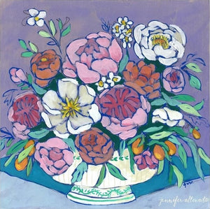 From a Table in Provence floral painting by Jennifer Allevato